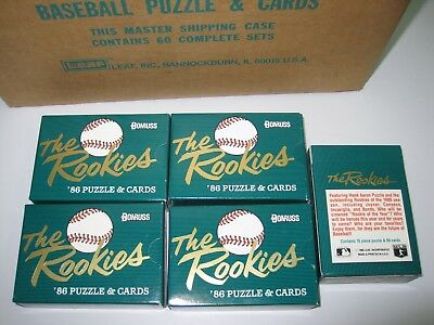 1986 Donruss The Rookies Factory Sealed Set  Canseco  Bonds Bo Jackson lot of 5