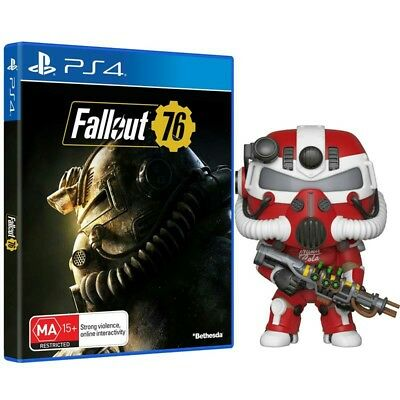 Fallout 76 Power Pack Edition - JB HIFI EXCLUSIVE - PS4 Game & Pop! Vinyl Figure