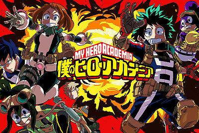 My Hero Academia Cast Poster 12in x 18in Free Shipping