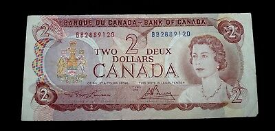 1974 Canada $2 Two Dollar note 1974 Ottawa # BB2889120