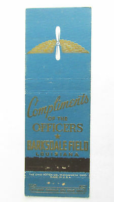 Barksdale Field Louisiana 20 Strike US Military Matchbook Cover Matchcover LA