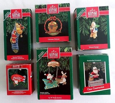 Lot of 6 Christmas Ornaments, ( 4 Hallmark Keepsake, 1 Hallmark and 1 Enesco )
