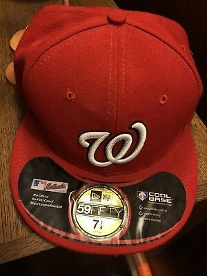 Used Worn Washiongton Nationals Fitted Red Mlb Authentic 2012 Ss Fw New Era
