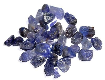 106 Ct Natural Violet Blue Tanzanite Untreated Earth-Mined 21 PCs Rough