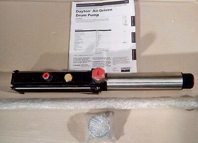 "**new Dayton 5Uwg1 Air Operated Drum Pump Fluid Transfer 10.6 Gpm 3/4""npt Outlet"
