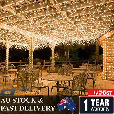500LED 100M Warm Cool White Fairy Christmas String Strip Lights Party Outdoor JR