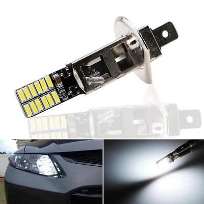 White Auto Vehicle LED Bulb Car Fog Light H1 6500K 24-SMD 4014 Driving DRL Lamp
