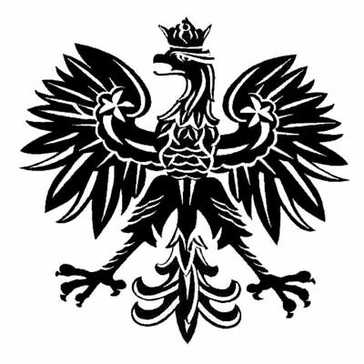 Polish Poland Aluminum Pl Country Decal Badge Sticker With Eagle And