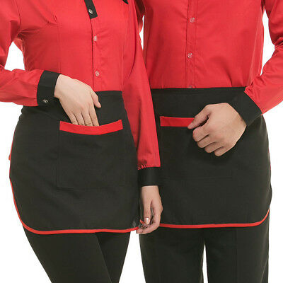 2Pack Kitchen Waist Half Aprons with Pocket Home Commercial Restaurant Chef Cook