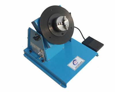 220V 2-16RPM Rotary Welding Positioner Turntable Table w/ 80mm Chuck+Pedal