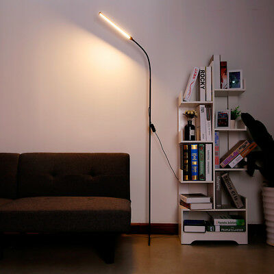3-in-1 Ultra Slim LED Floor Lamp Dimmable Gooseneck Desk USB Lamp Home Bedrooms