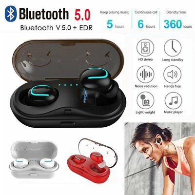 Mini TWS True Wireless In-Ear Stereo Bluetooth V5.0 Earphones Earbuds Headset AU