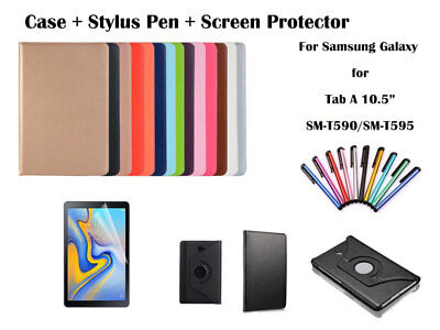 For Samsung Galaxy Tab A 10.5 T590 T595 Rotate PU Leather Smart Case Cover