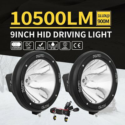 "2X 9"" Inch 12V 100W Hid Driving Lights Xenon Spotlight Offroad 4Wd Truck Ute FT"