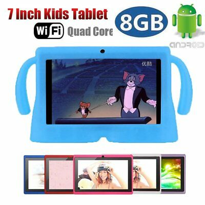 7'' inch Android 4.4 WiFi Tablet PC Quad Core 8GB Dual Camera Kids Child Gifts