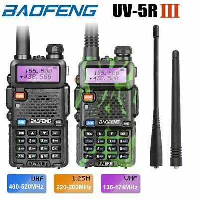 Baofeng UV-5R long range 2-Way Walkie Talkie Radio Bundle +headset / Mic / Cable