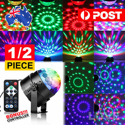 2X RGB LED Disco Ball DJ Party Light Effect Remote Sound Activated Strobe Gift