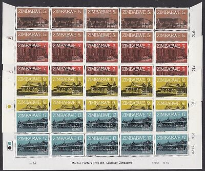 Zimbabwe: 1980, 75th Anniversary of Post Office Savings Bank, Cyl. A, blocks MNH