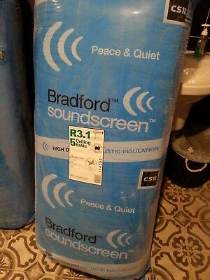 Insulfix R3.1 Bradford Soundscreen Batts 1160 x 580 Brand new. Still in packet.