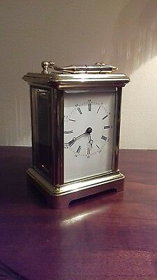 French Carrage Mantel Clock In Working Order