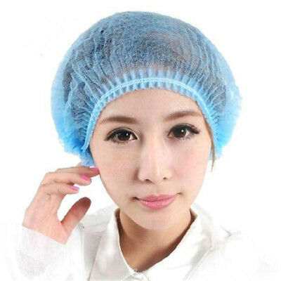 Pack of (x10) Disposable Mesh Hats Beauty Salon Hospital Laboratory Work Caps