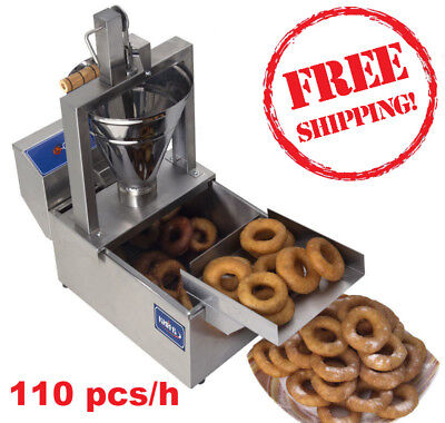 Compact Donut Fryer Maker Making Machine + Tank 110 Pcs/h Your Small Business