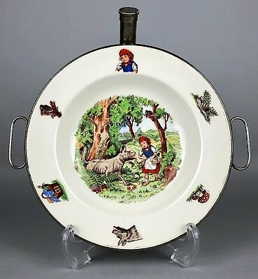Benraad, Holland -Little Red Riding Hood- Baby Warmer Hot Water Plate Bowl Dish
