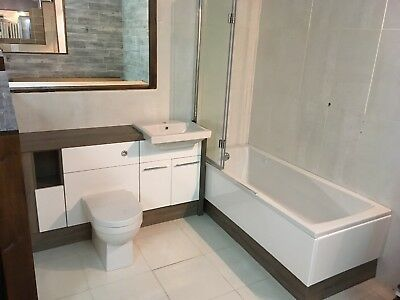 Ex Display Utopia Bathroom Furniture Solid Coralux Surface With