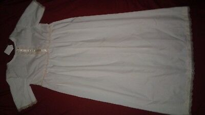New Ivory Christening Gown With Hat