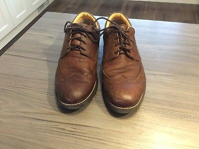 Mens Brown Leather Casual Brogue Size 9