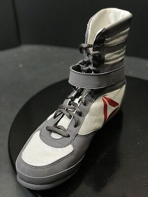 8b5a155bc4f0 New Reebok Men s Boxing Boot Buck Cross Trainer Grey Red White Shoes Size US