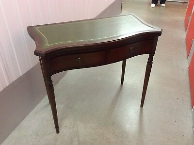 Strongbow Antique Reproduction Leather Top Writing/ Card Table and Chair
