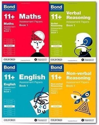 Bond 11+ English & Maths Assessment Papers, Ages 9-10 Years (set of 4 books)