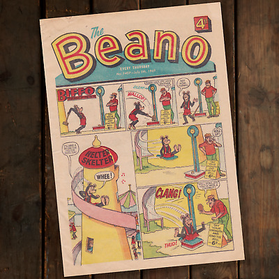 The Beano Comic No. 1407 July 5th 1969 - ft Biffo the Bear - D.C. Thomson & Co