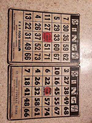 Vintage Bingo Cards- South Bend, St. Joseph, St. Hedwig's Church Advertising (2)