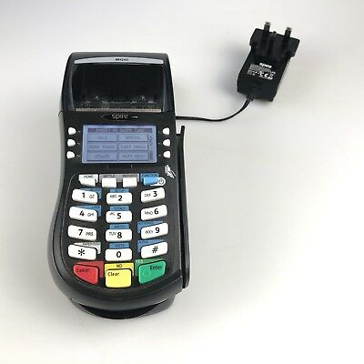 spire M4240 CHIP AND PIN SWIPE CARD PAYMENT TERMINAL + STAND & POWER SUPPLY
