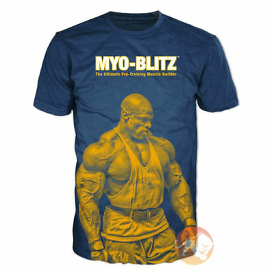 Ronnie Coleman Signature Series T-Shirt Myo-Blitz Unique Limited Edition L