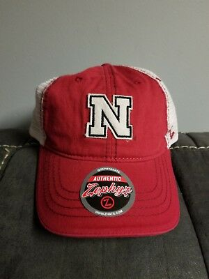 the best attitude bc291 9b830 ... usa new nebraska cornhuskers zephyr ncaa adjustable red white hat cap  football frost d4173 11665