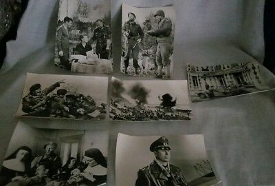 Lot Of 7 Old Vintage Military Photos