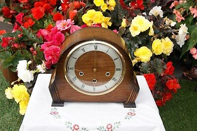 Smiths Antique Art Deco Westminster Chime Mantel Clock, 1954. Excellent!