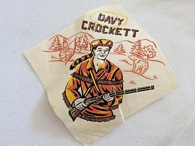 Walt Disney's Davy Crockett Indian Fighter ~ Boy's Party Napkin 1960's