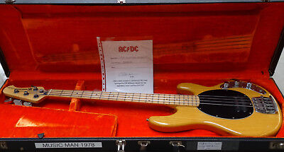 Music Man Stingray Bass 1978 Natural Owned by Cliff Williams former AC/DC