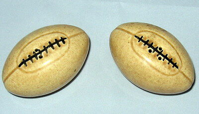 Vintage Football Salt and Pepper Shakers Super Cute