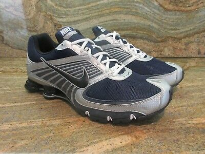 e81ba3d17f8 2009 Nike Shox Turbo+ VIII 8 SZ 14 Midnight Navy Blue Metallic Silver  344951-402