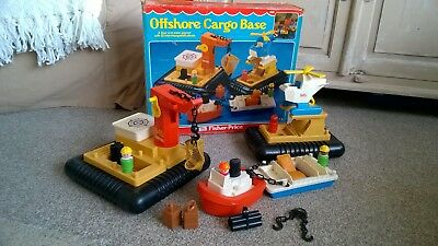 Vintage 1979 Fisher Price Ofshore Cargo Base 945 toy - With Box