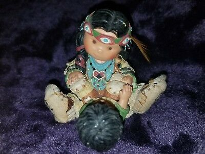 """Retired 2000 Enesco """"baby's First Mocs"""" Friends Of The Feather Figurine"""