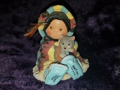 """Retired 200 Enesco """"warm And Toe-Asty"""" Friends Of The Feather Figurine"""