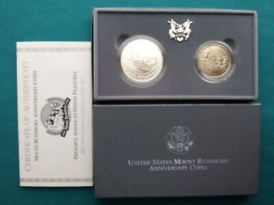 1991-D Two Piece Mt. Rushmore Uncirculated Coins #662