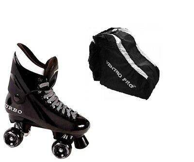 California Ventro Pro Turbo Quad Roller Skates with skate bag black