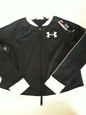 1cf5fda73f NWT UNDER ARMOUR Girl's UA Track Jacket Size Youth XL YXL xlarge cold gear  new